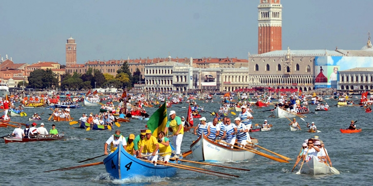 The Vogalonga of Venice, a famous regatta.