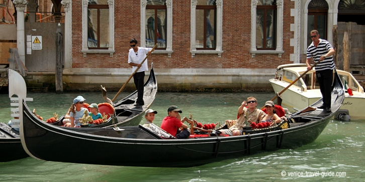 A gondola ride through the canals of Venice.